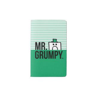 Mr Grumpy   Peeking Head Over Name Pocket Moleskine Notebook