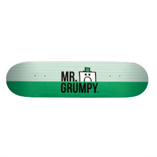 Mr Grumpy | Peeking Head Over Name Skateboard Deck