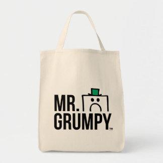 Mr Grumpy | Peeking Head Over Name Tote Bag