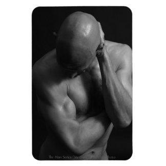 Mr Gym B/W Rectangular Photo Magnet