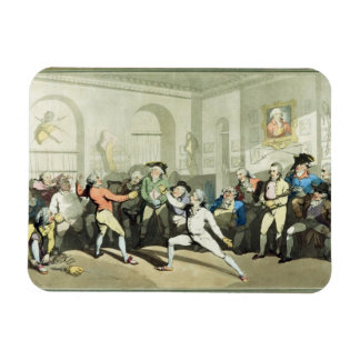 Mr H Angelo's Fencing Academy, engraved by Charles Magnet