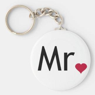 Mr - half of Mr and Mrs set Keychain