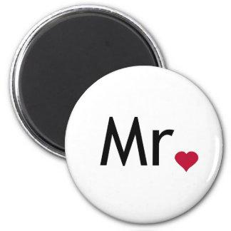 Mr - half of Mr and Mrs set Magnets