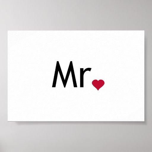 Mr - half of Mr and Mrs set Poster