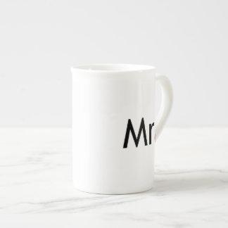Mr - half of Mr and Mrs set Porcelain Mugs