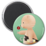 Mr Hamster goes to work Fridge Magnets