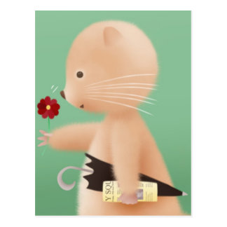 Mr Hamster goes to work Post Card