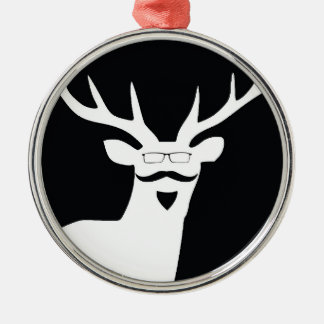Mr Hanging Stag Metal Ornament