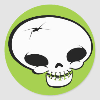 Mr Happy Bones Classic Round Sticker