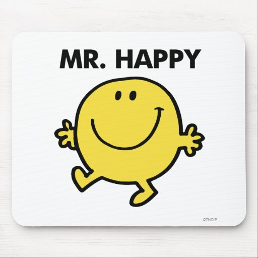 Mr Happy Classic 2 Mouse Pad