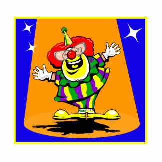 Mr Happy Clown Cutout