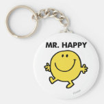 Mr. Happy | Dancing & Smiling Basic Round Button Keychain