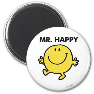 Mr. Happy | Dancing & Smiling 2 Inch Round Magnet