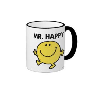 Mr. Happy | Dancing & Smiling Ringer Coffee Mug