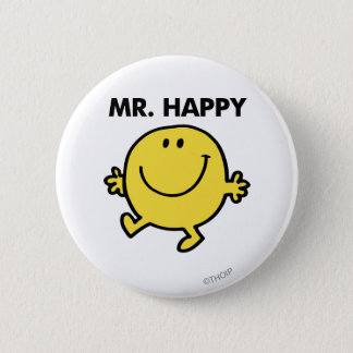 Mr. Happy | Dancing & Smiling Pinback Button