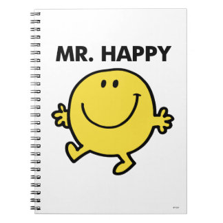 Mr. Happy | Dancing & Smiling Spiral Notebook
