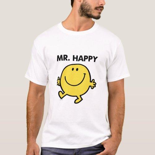 Mr Happy  Dancing  Smiling T_Shirt