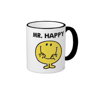 Mr. Happy | Giant Smiley Face Ringer Coffee Mug