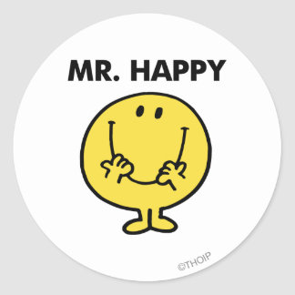 Mr. Happy | Giant Smiley Face Classic Round Sticker