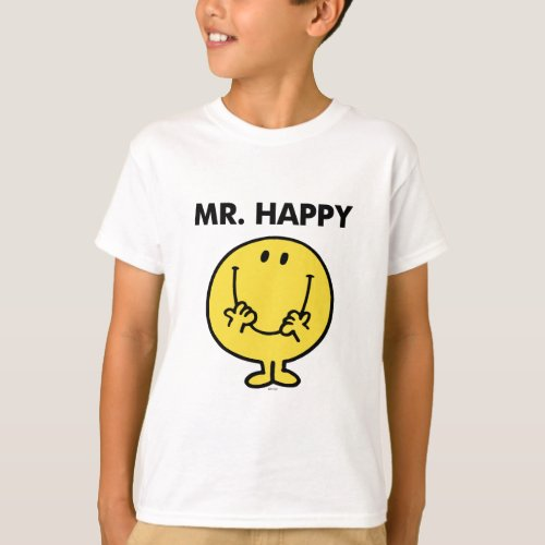 Mr Happy  Giant Smiley Face T_Shirt
