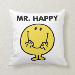 Mr. Happy   Giant Smiley Face Throw Pillow