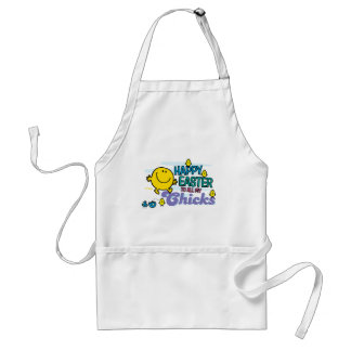 Mr. Happy   Happy Easter To All My Chicks Adult Apron