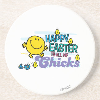 Mr. Happy | Happy Easter To All My Chicks Sandstone Coaster