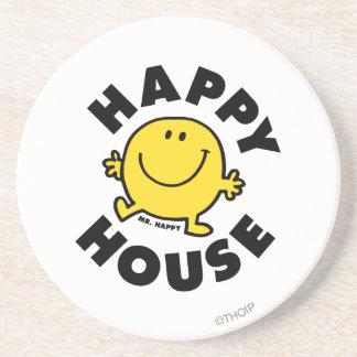 Mr. Happy | Happy House Drink Coaster