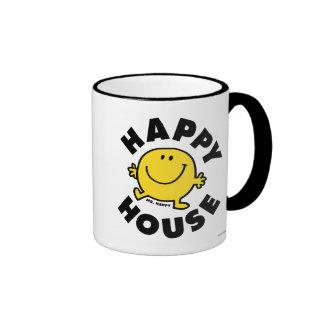 Mr. Happy | Happy House Ringer Coffee Mug