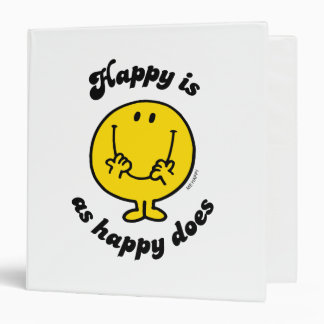 Mr. Happy | Happy Is As Happy Does Binder