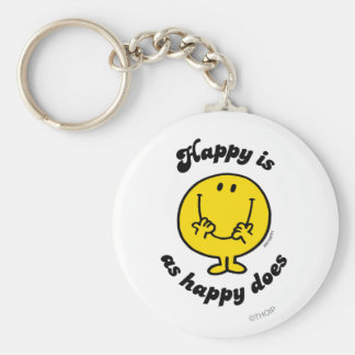 Mr. Happy | Happy Is As Happy Does Keychain