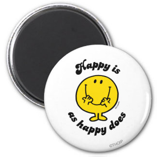 Mr. Happy | Happy Is As Happy Does Magnet