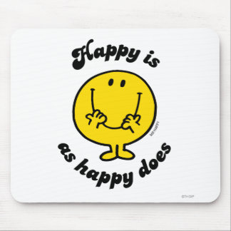 Mr. Happy | Happy Is As Happy Does Mouse Pad