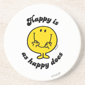 Mr. Happy | Happy Is As Happy Does Sandstone Coaster