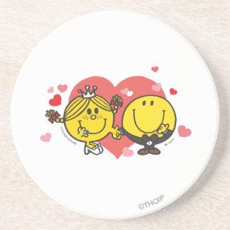Mr. Happy & Little Miss Sunshine Wedding Drink Coaster