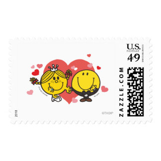 Mr. Happy & Little Miss Sunshine Wedding Postage