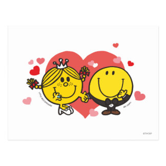 Mr. Happy & Little Miss Sunshine Wedding Postcard