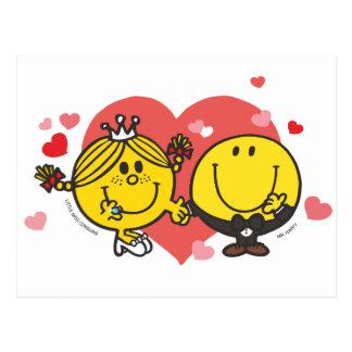Mr. Happy & Little Miss Sunshine Wedding Postcard
