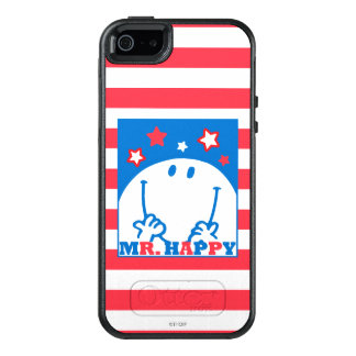 Mr Happy Patriotic Red White And Blue Icon 2 OtterBox iPhone 5/5s/SE Case