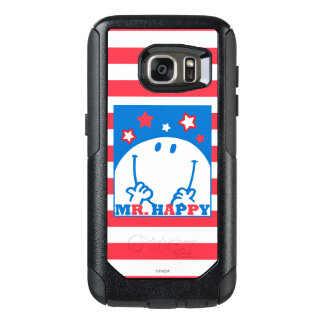 Mr Happy Patriotic Red White And Blue Icon 2 OtterBox Samsung Galaxy S7 Case