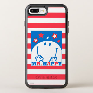 Mr Happy Patriotic Red White And Blue Icon 2 OtterBox Symmetry iPhone 8 Plus/7 Plus Case