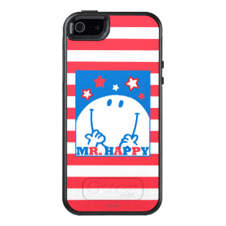 Mr Happy Patriotic Red White And Blue Icon OtterBox iPhone 5/5s/SE Case