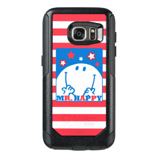 Mr Happy Patriotic Red White And Blue Icon OtterBox Samsung Galaxy S7 Case