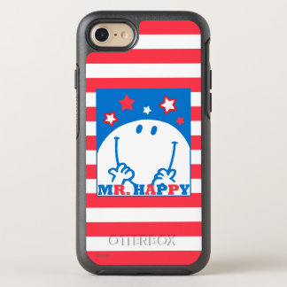 Mr Happy Patriotic Red White And Blue Icon OtterBox Symmetry iPhone 8/7 Case