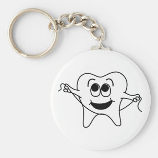 Mr. Happy Tooth Keychain