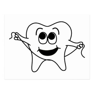 Mr. Happy Tooth Postcard