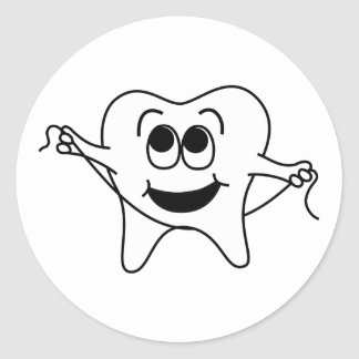 Mr. Happy Tooth Stickers
