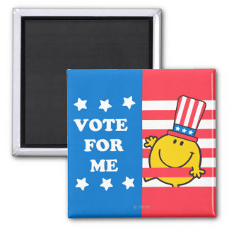 Mr. Happy Vote For Me Flag 2 Inch Square Magnet