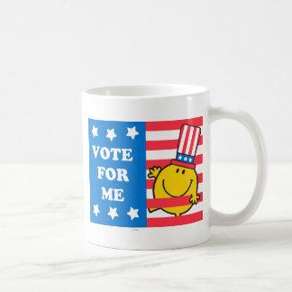 Mr. Happy Vote For Me Flag Coffee Mug