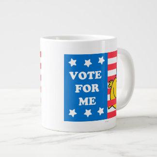 Mr. Happy Vote For Me Flag Large Coffee Mug